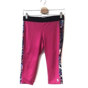 Soffe low rise Capri legging pink size medium